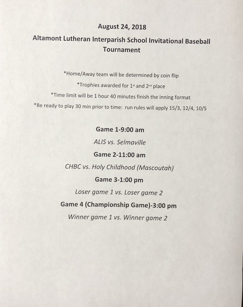Jr High Baseball Tournament
