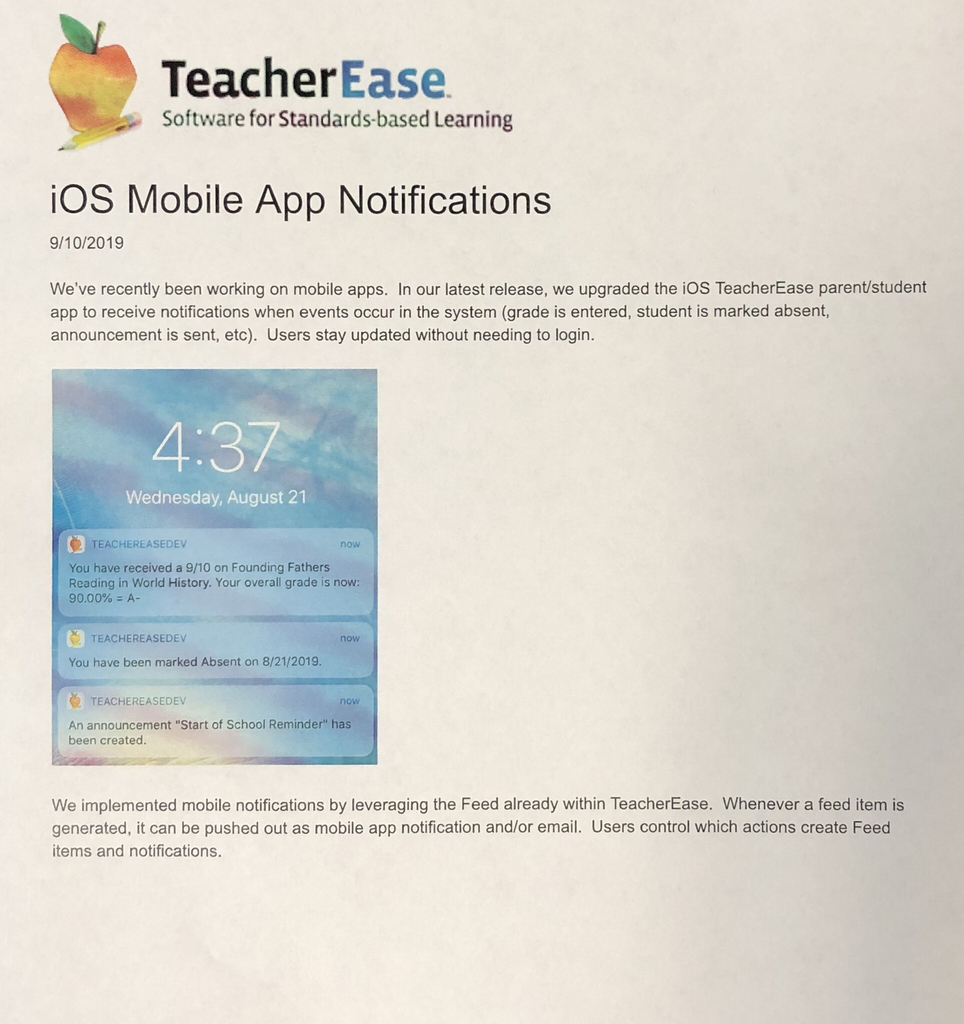 Teacher Ease App