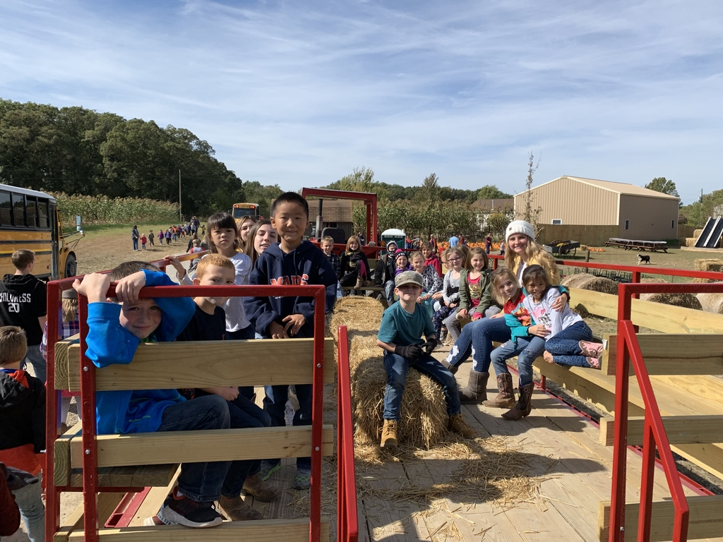Fun on the hay ride.