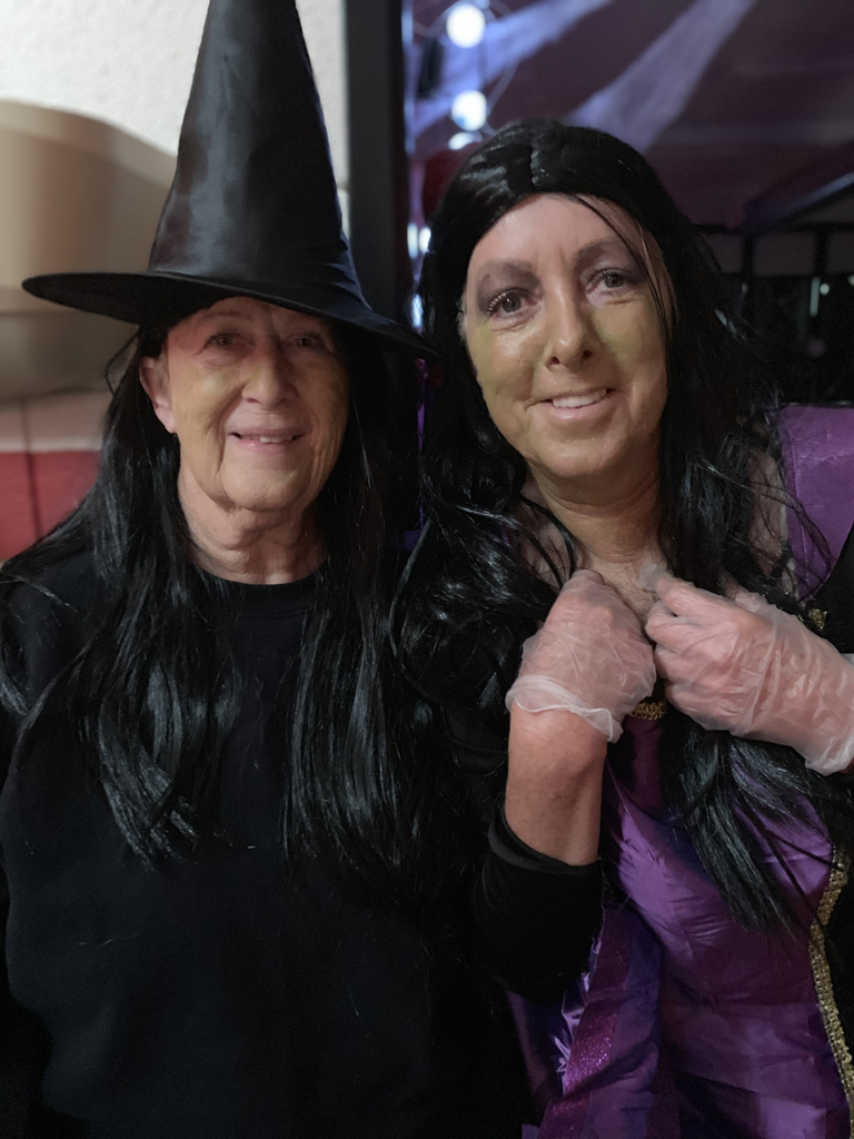 The witches! (Kay and Gayla)