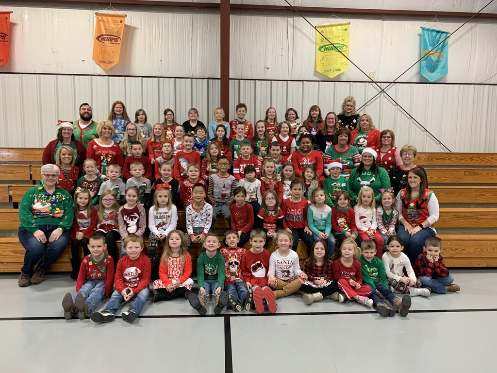 Grade School gets in the spirit wearing Christmas attire