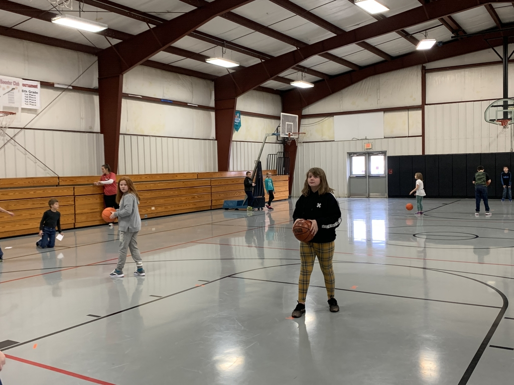4th graders participate in Kids Heart Challenge (Hoops for Heart)