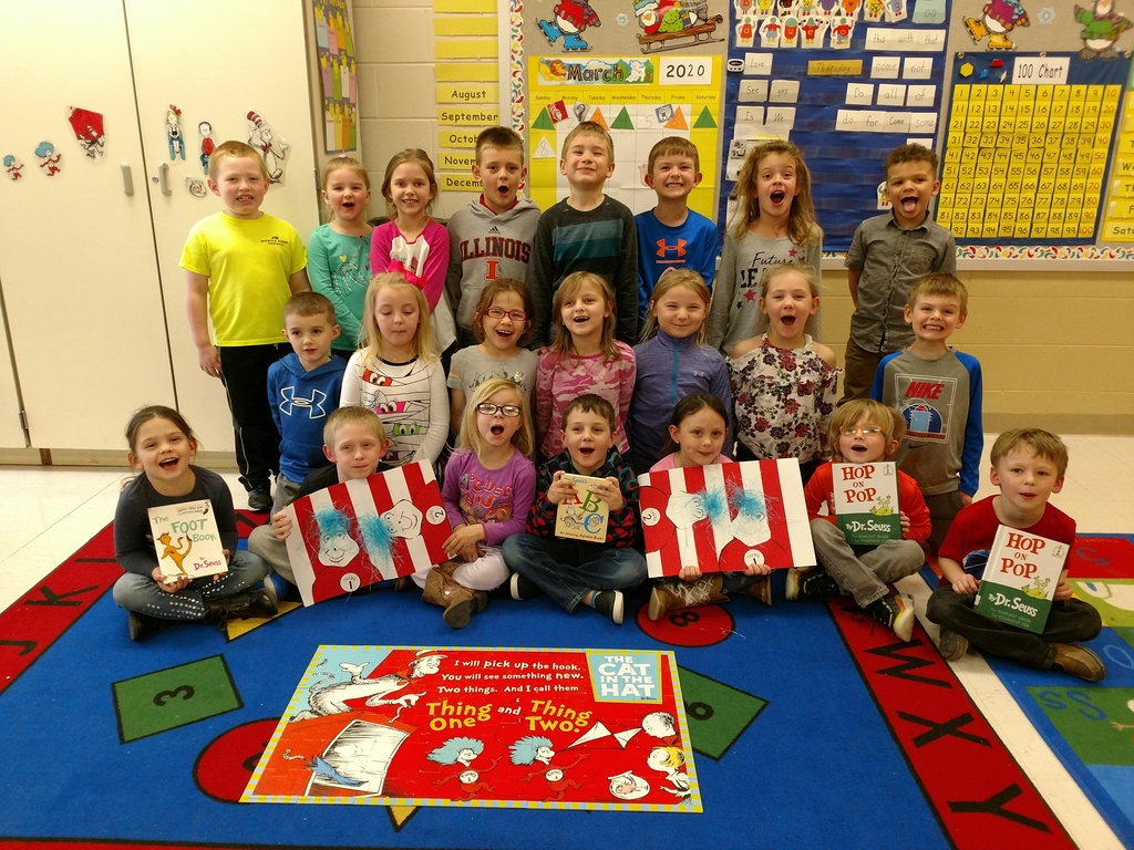 Kindergarten enjoyed learning about Dr. Seuss, reading books, and participating in book related learning centers.